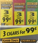 Good Times Cigarillos Assorted 30/3 Packs 3 for 99 Pre-Priced