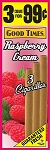 Good Times Cigarillos Raspberry Cream Pouch 15/3