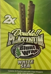 Double Platinum Blunt Wrap White Sea