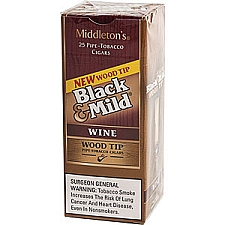 Black & Mild Wood Tip Wine Cigars Box