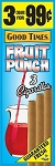 Good Times Cigarillos Fruit Punch Pouch 15/3