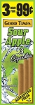 Good Times Cigarillos Sour Apple Pouch 15/3