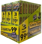 Good Times Cigarillos White Grape 30/3 Packs 3 for $0.99 Pre-Priced