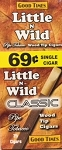 Little n Wild Classic Wood Tip 69c Cigars Box
