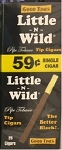 Little n Wild Black 59c Tip Cigars Box