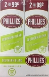 Phillies Cigarillos Southern Bland Foil Fresh 2 for 99
