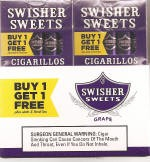 Swisher Sweets Cigarillos Grape Pack B1G1