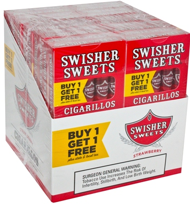 Swisher Sweets Cigarillos Strawberry Pack B1G1