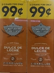 Swisher Sweets Cigarillos Foil Pack Dulce  De Leche 2 for $.99