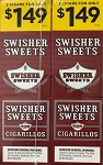 Swisher Sweets Cigarillos Foil Regular 2 for 1.49