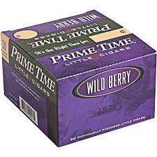 Prime Time Little Cigars Wild Berry 50Ct Box