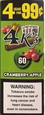 4 Kings Cigarillos Cranberry Apple Pouch