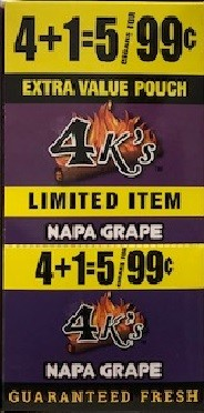 4 Kings Napa Grape Cigar Pouch 5 for 99