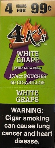 4 Kings Cigarillos White Grape Pouch