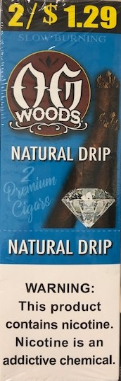 OG Woods Leaf Natural Cigars 2 for 1.29