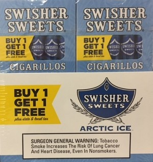 Swisher Sweets Cigarillos Arctic Ice Pack B1G1