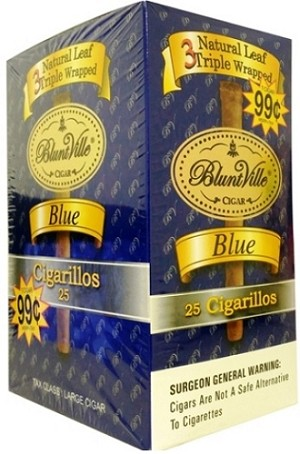 Bluntville Blue Cigars 25ct pre-priced 99c