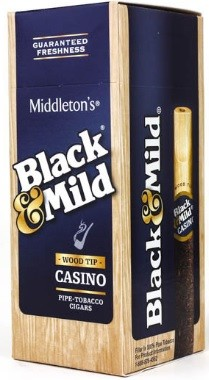 Black & Mild Cigars Casino Wood Tip Box