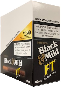Black & Mild Filter Tips PRE PRICED Cigars 10/5