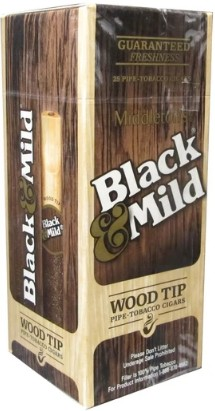 Black & Mild Original Wood Tip Cigars Box