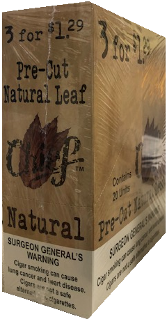 Chief Pre-Cut Natural leaf 3 for 1.29