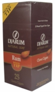 Djarum Clove Wood Tip Rum Cigars Box