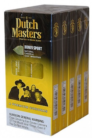 Dutch Masters Honey Sport Cigars 4pk large New Packing
