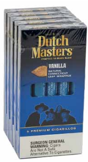 Dutch Masters Cigarillos Vanilla Blue 5 Packs of 5 Cigarillos
