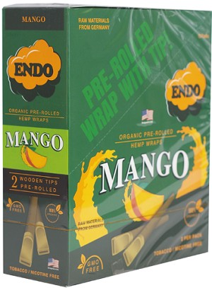 Endo Mango Wood Tip Hemp Wraps