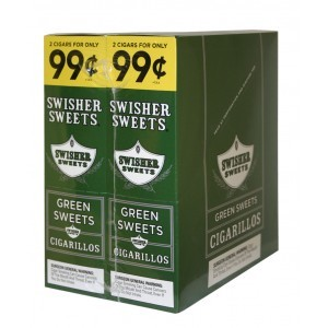 Swisher Sweets Cigarillos Foil Pack Green Sweets