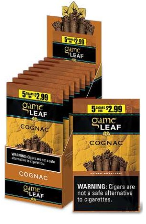 Game Leaf Cognac 5 for $2.99