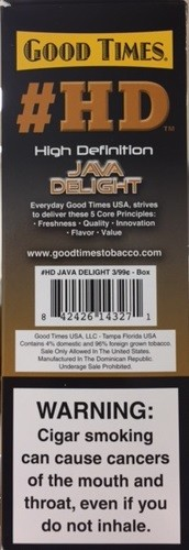 Good Times Cigarillos HD Java Delight Pouch