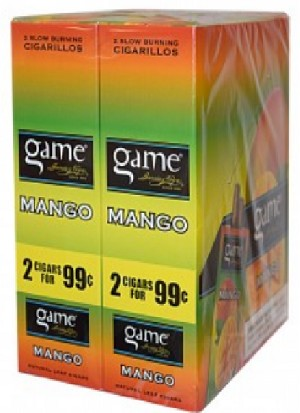 Game Foil Fresh Cigarillos Mango 2 for $0.99 Pre -Priced