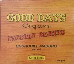 Good Days Cigars Churchill Maduro Box (Factory Rejects Premium)