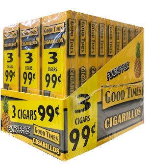 Good Times Cigarillos Pineapple 30/3 Packs 3 for $0.99 Pre-Priced