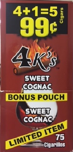 4 Kings Sweet Cognac Cigar Pouch 5 for 99