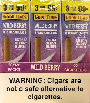 Good Times Cigarillos Wild Berry 30/3 Pack (3 For $0.99)