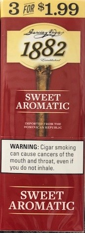 Garcia Y Vega 1882 Sweet Aromatic Cigars 3 for 1.99
