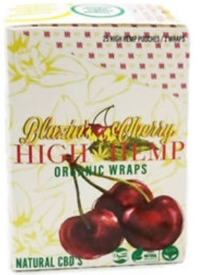High Hemp Blazin Cherry Organic Wraps