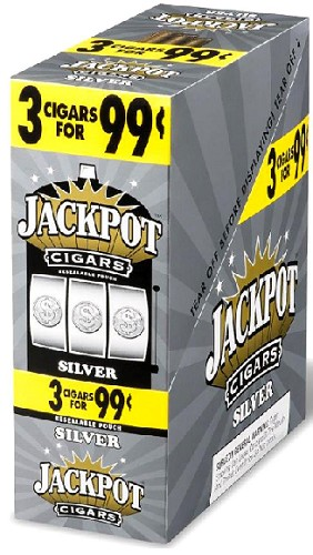 Jackpot Cigarillos Silver 15/3 3 for $0.99 Pre-Priced