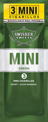 Swisher Sweets Cigarillos MINI Foil Pack Green Sweet