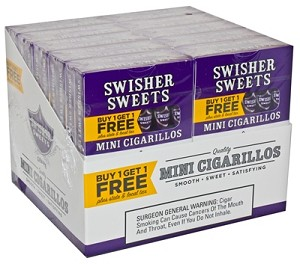 Swisher Sweets Mini Cigarillos Grape B1G1 Pack