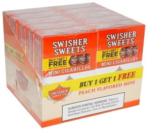 Swisher Sweets Mini Cigarillos Peach B1G1 Pack