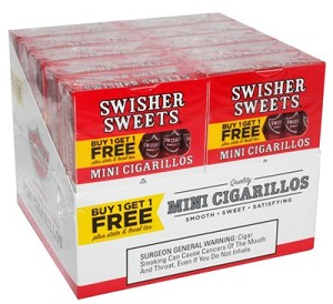 Swisher Sweets Mini Cigarillos Strawberry B1G1 Pack