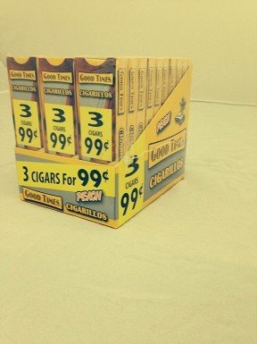 Good Times Cigarillos Peach 30/3 Packs 3 for 99 Pre-Priced