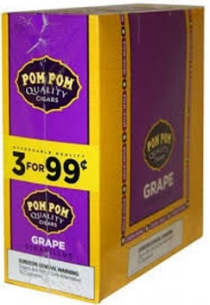 Pom Pom Cigarillos Grape Pouch 3 for 99