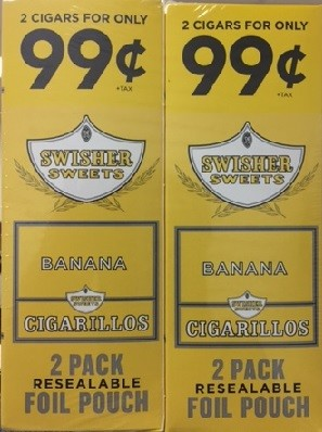 Swisher Sweets Cigarillos Foil Pack Banana