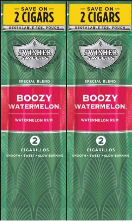 Swisher Sweets Cigarillos Foil Boozy Watermelon 2for99