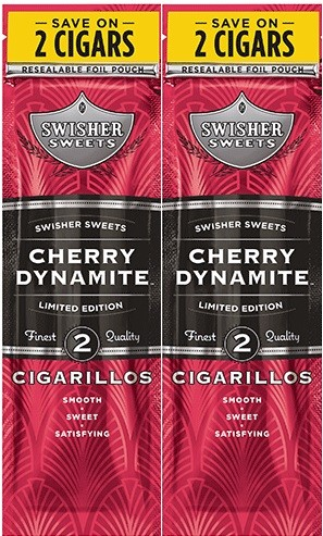 Swisher Sweets Cigarillos Foil Pack Cherry Dynamite