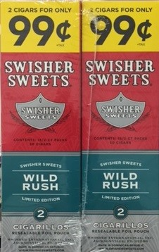 Swisher Sweets Cigarillos Foil Pack Wild Rush